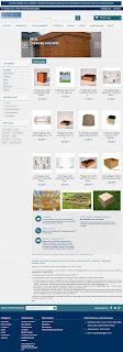 Aspect visuel du theme prestashop modifié du site boismetal
