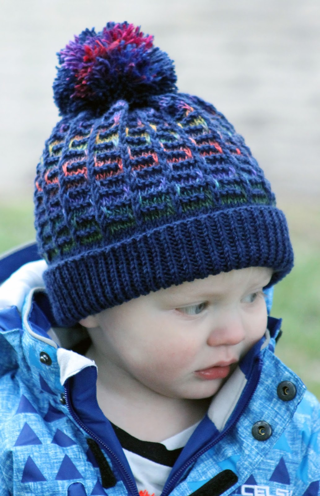 Boys Hat Knitting Pattern : Balls to the Walls Knits: Rainbow Maze Hat