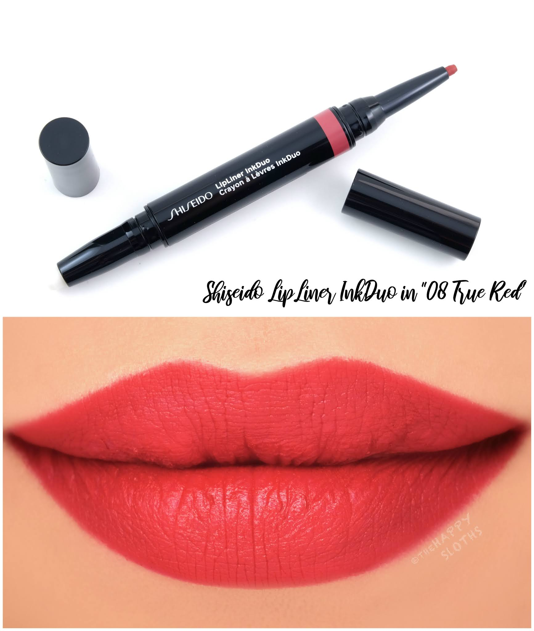 "Shiseido | LipLiner InkDuo in ""08 True Red"": Review and Swatches"