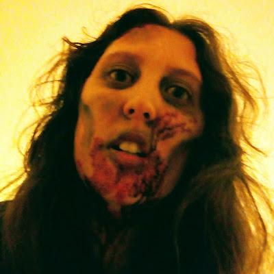Jade in full zombie make up