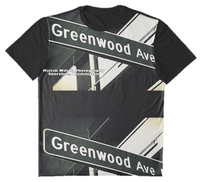 Greenwood Avenue North, Shoreline, WA Graphic T-Shirt, Posters, Stickers, & more...