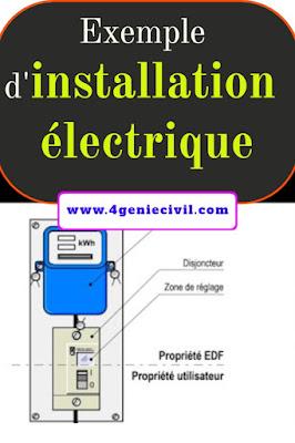 Exemple d'installation électrique