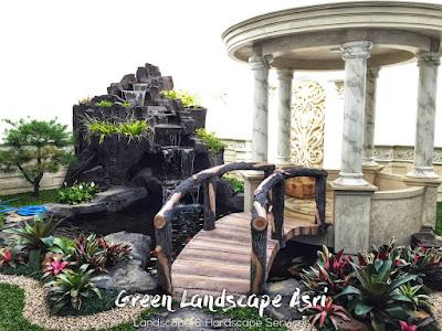 Jasa Pembuatan Relief Kolam Tebing Temanggung | Tukang Dekorasi Relief Air Terjun