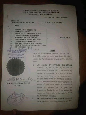 Federal High Court Restrains Obaseki From Participating In PDP Primary Election