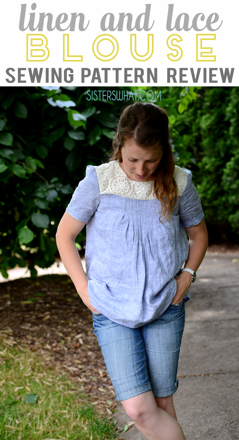 Linen and Lace blouse sewing pattern review of McCalls M7544