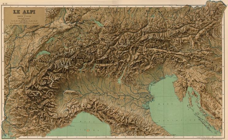 Cartina Dell Italia Alpi E Appennini.Le Alpi