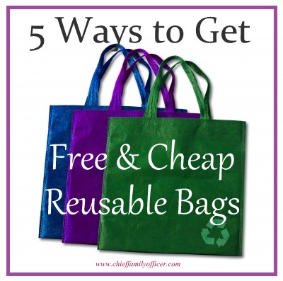 Ways to Get Free or Cheap Reusable Bags - chieffamilyofficer.com