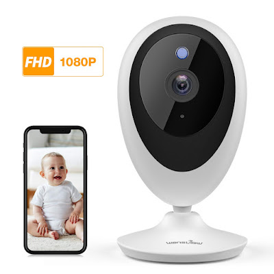Baby Monitor, Wireless WiFi Home Security System 1080P FHD Wansview for Elder and Pet Camera with Motion Detection, 2 Way Audio, Works with Alexa, TF Card and Cloud Available K5