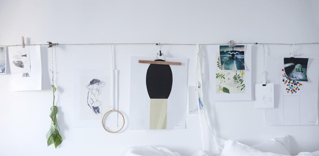 decoración para habitación de alquiler fotos con pinzas
