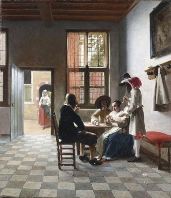 Card Players in a sunlit Room, by Pieter de Hooch