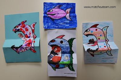 piranha à colorier