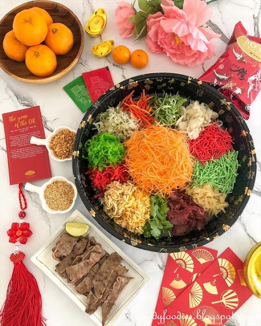 Wagyu Beef Yee Sang Mandarin Oriental KL