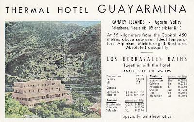 Postcard from Thermal Hotel Guayarmina on Gran Canaria