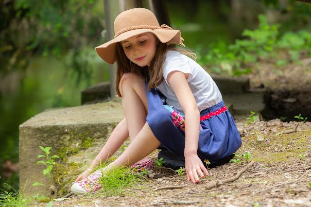 Elleanor de Provence jupe enfant bleue