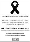 Expresan condolencias a la diputada Abelina López, de Acapulco, sus colegas de Morena