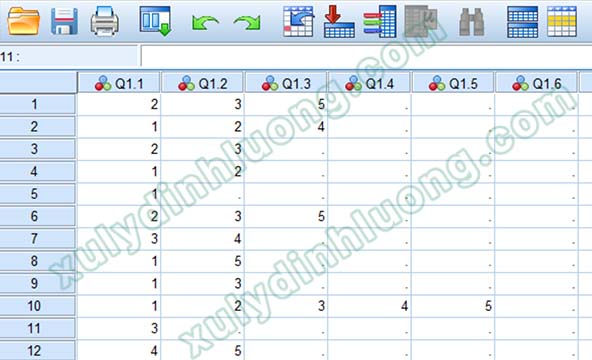 Chuyển dữ liệu câu hỏi nhiều trả lời từ Google Forms sang SPSS