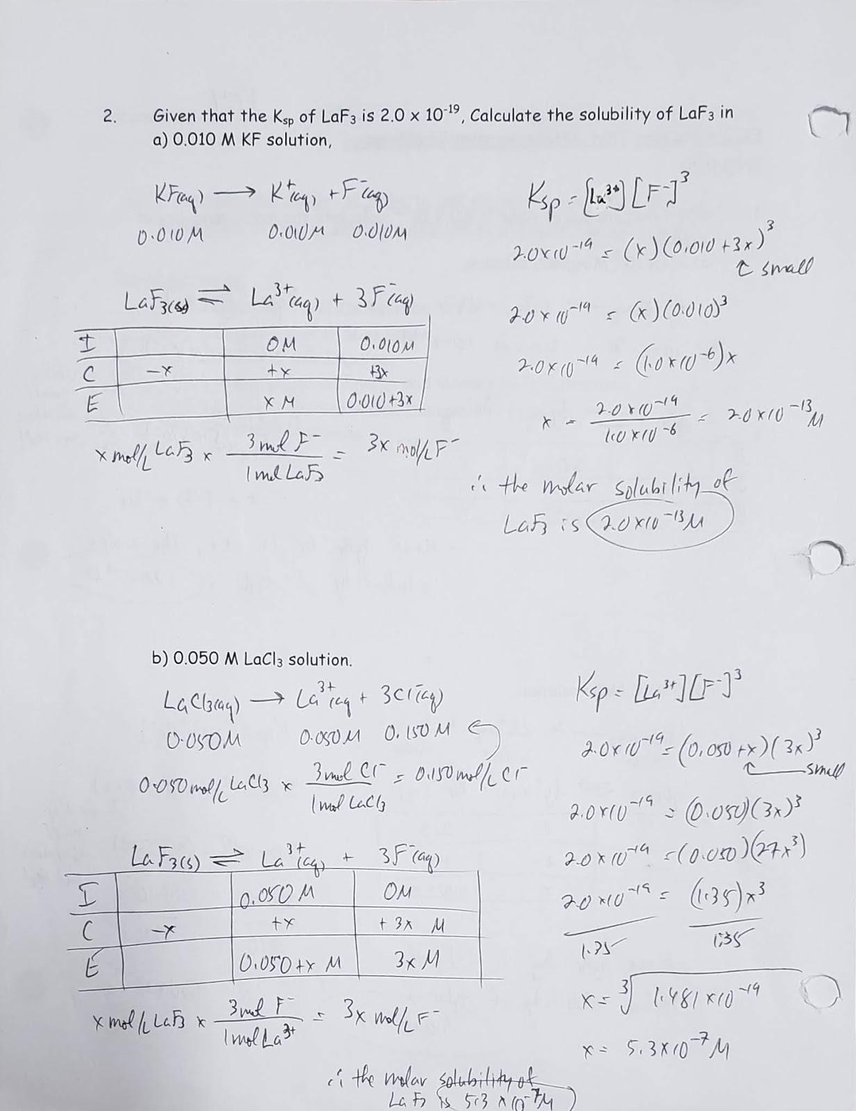 Mr. Kasprick's Chemistry 30 Class: EQ2: Analyze aqueous