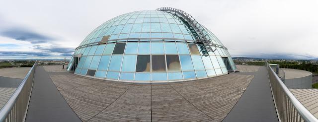 Vista panorámica de Perlan, uno delos mejores museos de Reikiavik