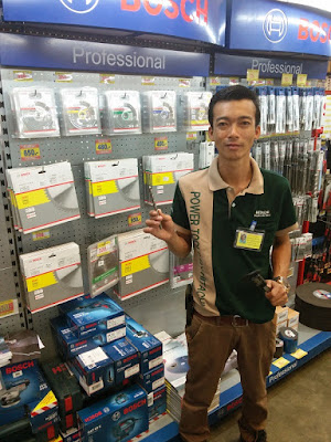Mr Tum is the tool sales manager at Ruangsangthai in Buriram featuring Hitachi and Bosch Tools