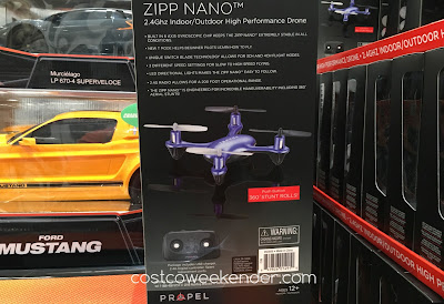 Costco 950809 - Propel Zipp Nano 2.4 GHz High Performance Drone - great for any child or adult