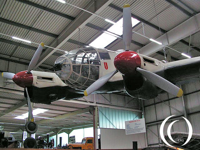A Heinkel HE111 bomber in the Technology Museum Sinsheim, Germany