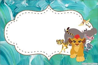 La Guarida del León: Invitaciones para Imprimir Gratis.
