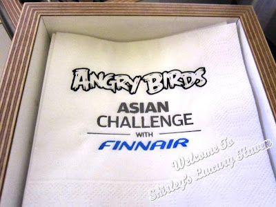 finnair angry birds paper napkins