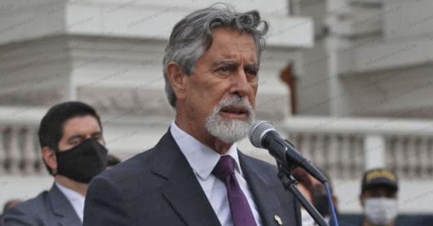 FRANCISCO SAGASTI: Nuevo Presidente de la República juramentará mañana martes a las 16:00 horas