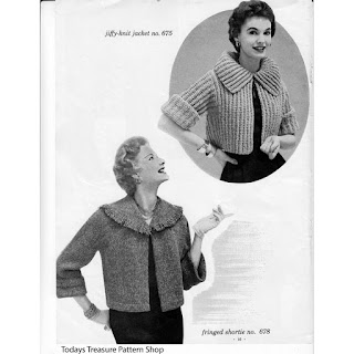 Vintage Jacket Knitting Pattern, Waist Length