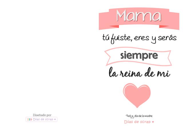 Postal Día de la madre - Días de scrap