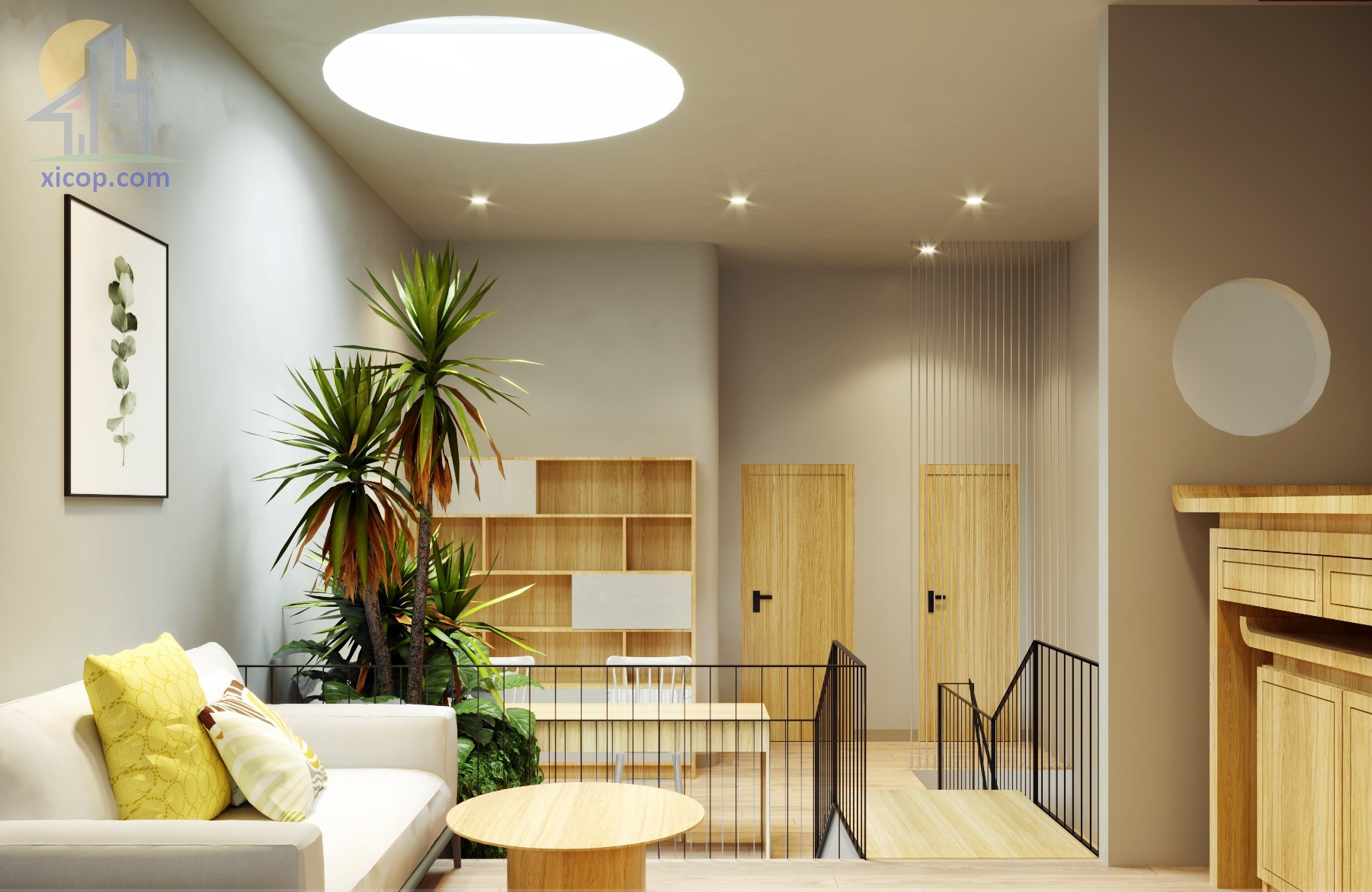Nhà phố phong cách hiện đại theo mẫu thiết kế nhà phố 3 tầng đẹp