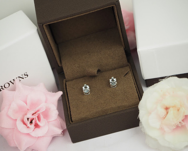 Browns Rosa Mer Collection Aquamarine Stud Earrings Review Lovelaughslipstick Blog