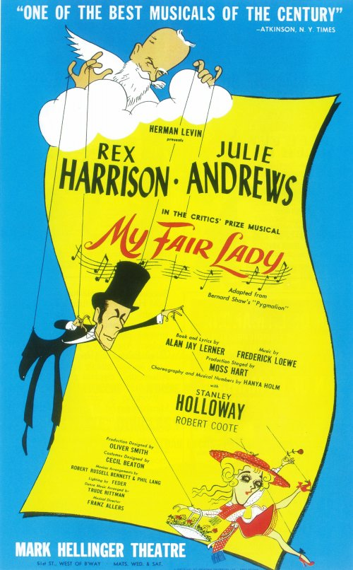 Image result for musical my fair lady opens on broadway in 1956 original