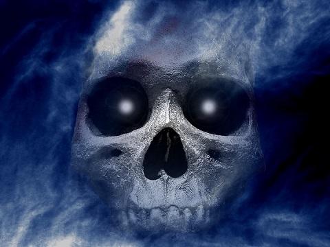 Wallpaper Hd Anime Skull In Black And Blue Wallpaper Hd For Mobile