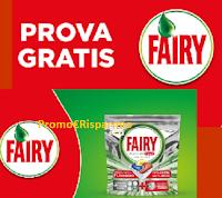 Logo Prova Gratis Fairy : rimborso totale sul detersivo lavastoviglie con l'operazione di cashback