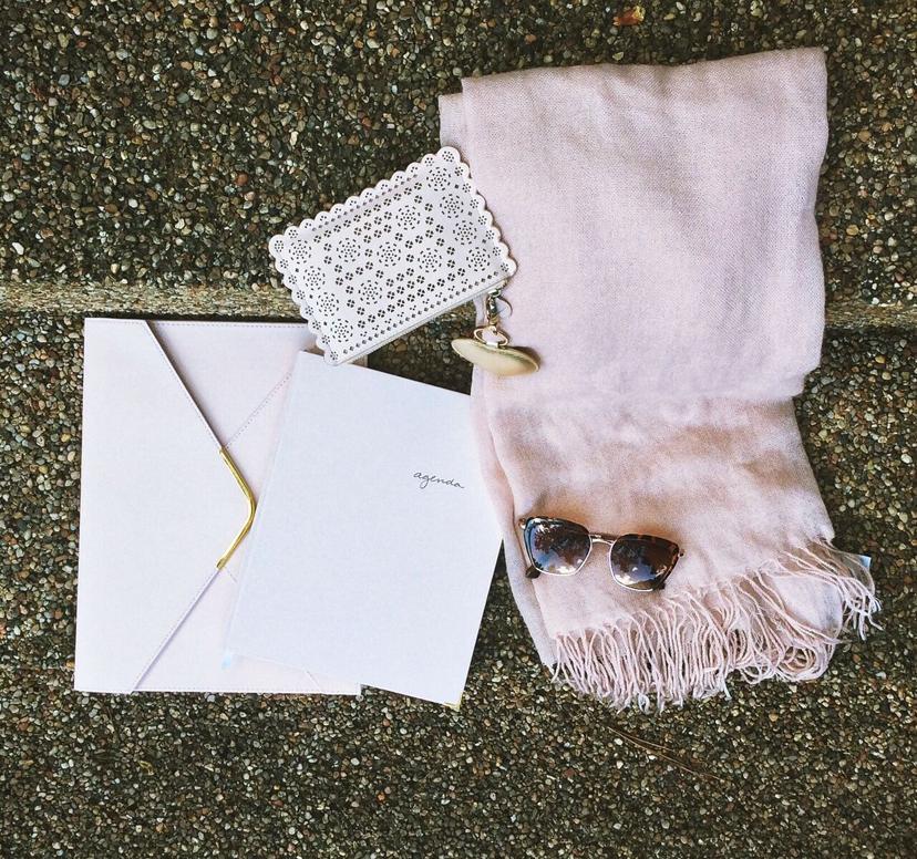 sugarpaper pink planner agenda gold tone tortoise shells shades sunglasses