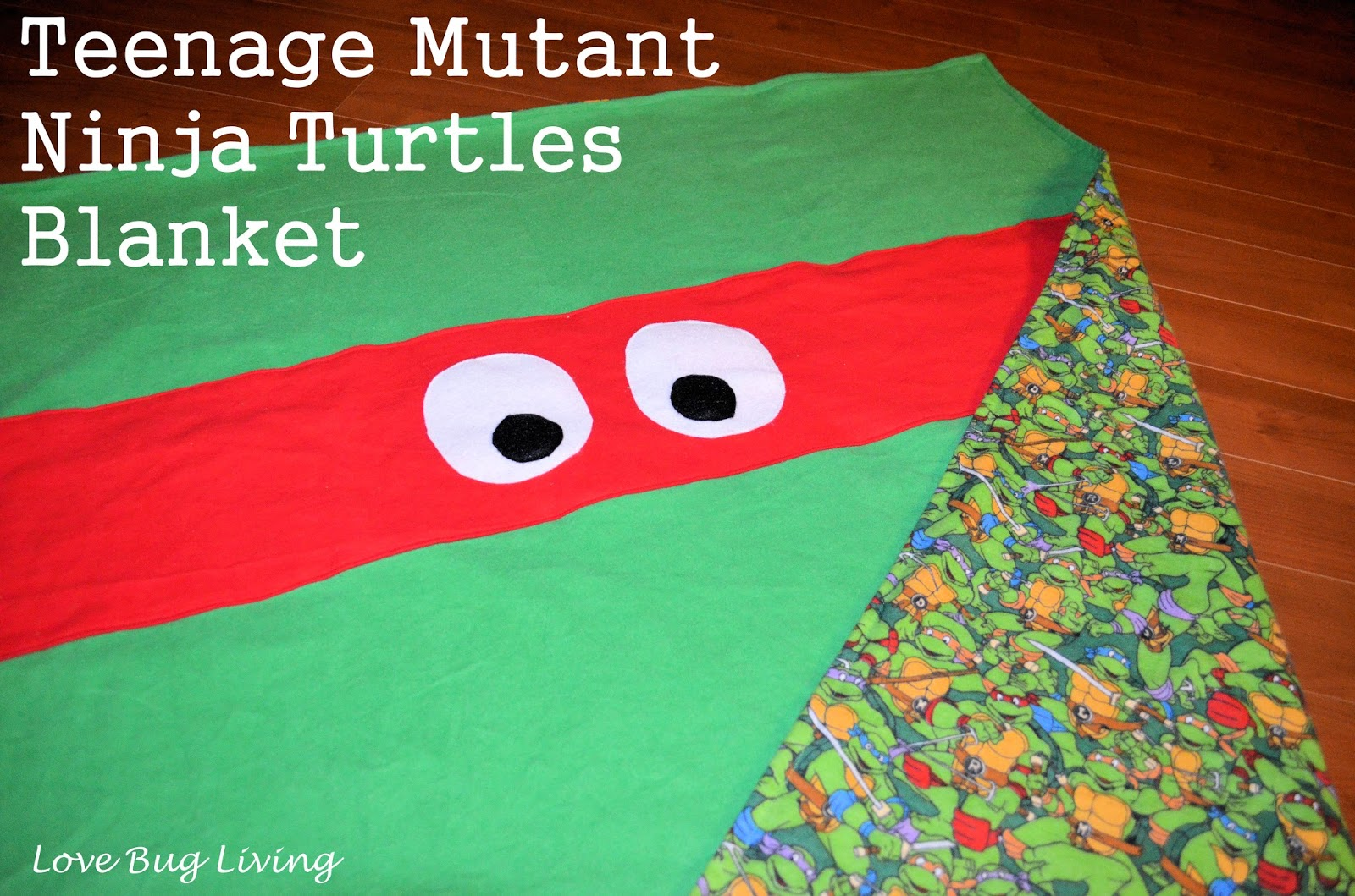 Love Bug Living Teenage Mutant Ninja Turtle Blanket