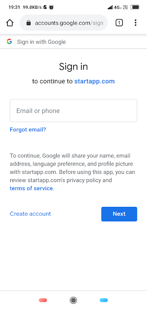 Startapp login