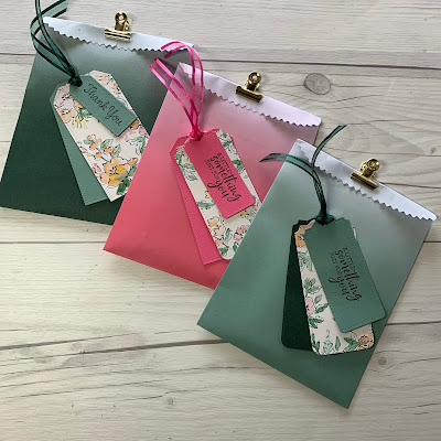 2021-2023 In Color Ombre Gift Bags 155479 | $6.00 USD from Stampin' Up!
