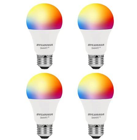 LEDVANCE SYLVANIA Smart+ Wi-Fi Full Color Dimmable A19 LED Light Bulb