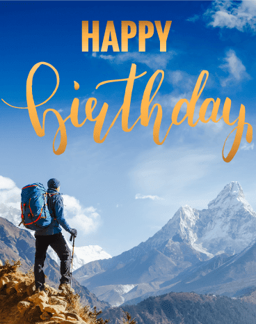 Birthday Wishes For Hikers - Outdoor Birthday Wishes