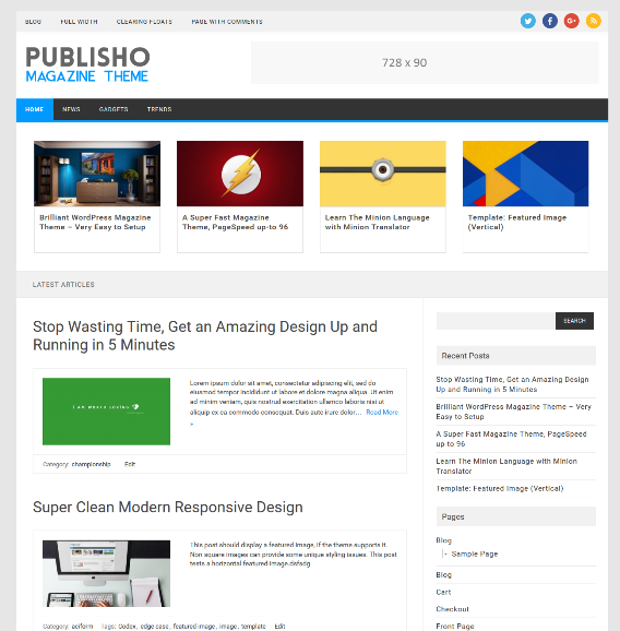 Tema Wordpress Gratis - Publisho