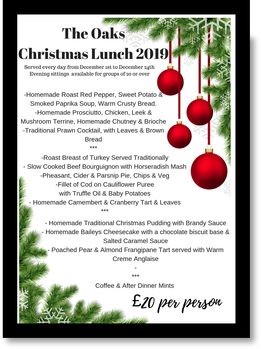 Christmas In The Oaks 2019.Bielby Village News Christmas Meal 2019