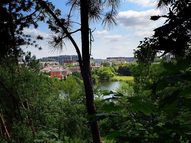 Widok na fragment Parku Szczęśliwickiego