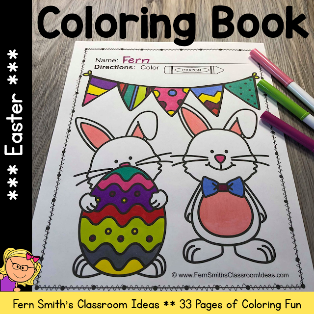 Easter Coloring Pages - 33 Pages of Easter Coloring Fun #FernSmithsClassroomIdeas