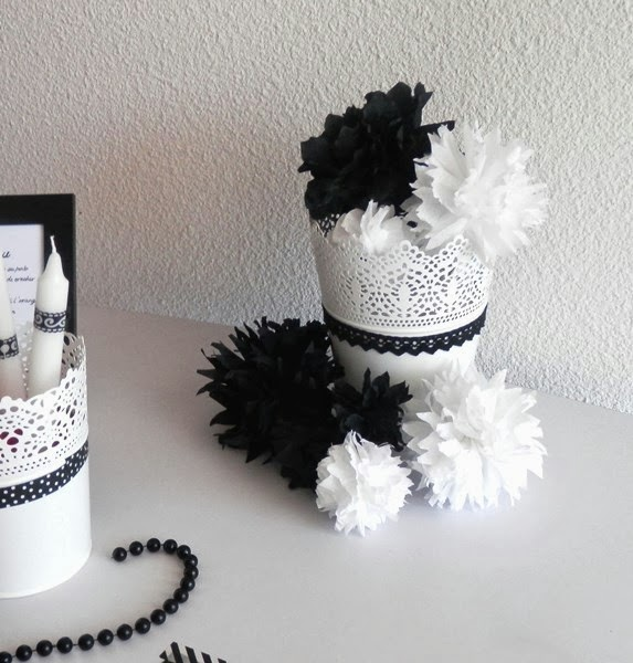 Decoration Blanc Noir Buffet Fete Anniversaire