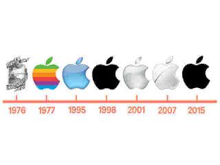 The first Apple logo evolution
