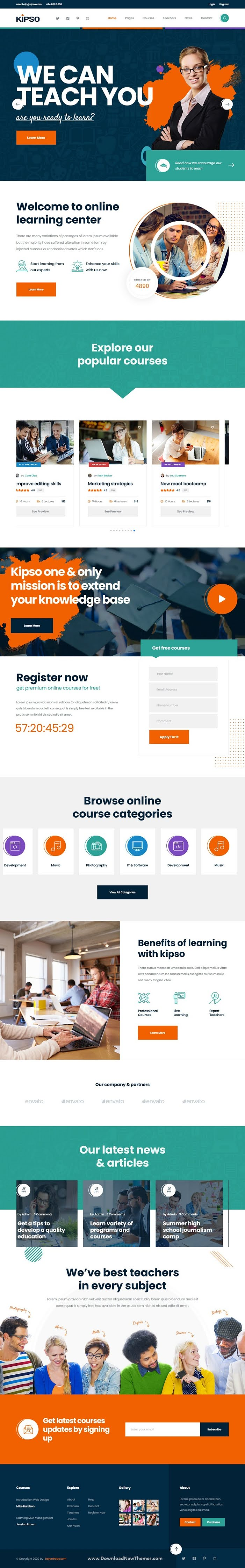 Education Learning & LMS Template