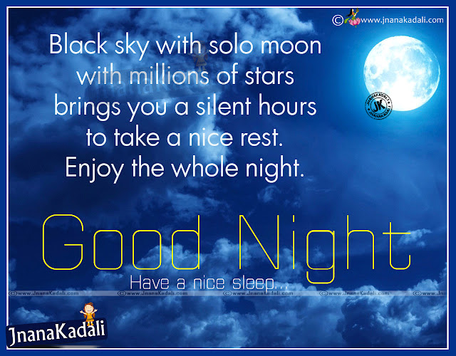 Good Night Motivational Quotes In English: Happiness And Good Night English Greetings