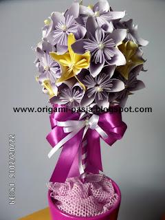 kusudama, kwiaty, na szczescie
